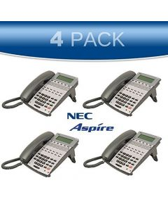 NEC Aspire 4 PACK 22-Button Display Office Phone 0890043 IP1NA-12TXH