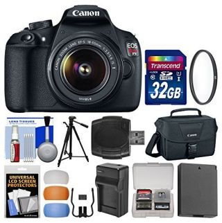 Canon EOS Rebel T5 Digital SLR Camera Body & EF-S 18-55mm IS II Lens with 32